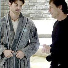 Roland Joffe e Daniel Gillies sul set del film Captivity