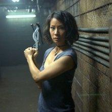 Lucy Liu in una sequenza del film Rise: Blood Hunter