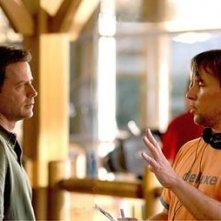Greg Kinnear e Richard Linklater sul set del film Fast Food Nation