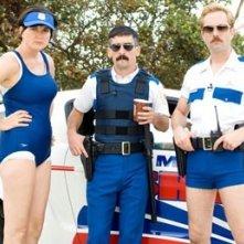 Kerri Kenney-Silver, Robert Ben Garant e Thomas Lennon in una scena di Reno 911!: Miami