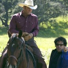 Michael Mayer e Tim McGraw  sul set del film Flicka