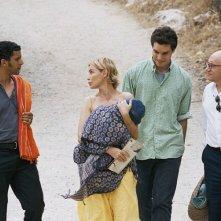 Michel Blanc, Emmanuelle Béart, Lorenzo Balducci e Sami Bouajila in una scena del dramma I testimoni