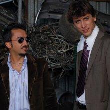Nicola Savino insieme a Corrado Fortuna in una scena del film Agente Matrimoniale