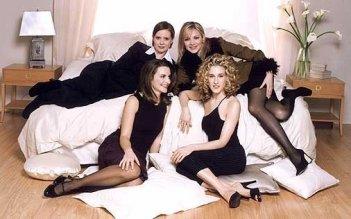 Kristin Davis, Cynthia Nixon, Kim Cattral e Sarah Jessica Parker in una foto promozionale per Sex and the City