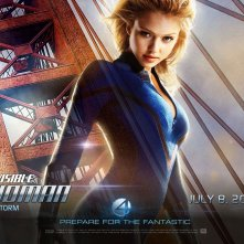 Jessica Alba in un wallpaper del film I fantastici quattro