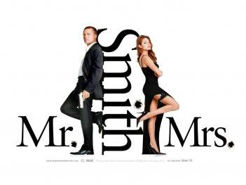 Wallpaper del film Mr. and Mrs. Smith con la coppia Jolie-Pitt