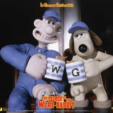 Wallpaper del film Wallace & Gromit - La maledizione del coniglio mannaro con i due protagonisti
