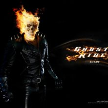 Un bellissimo wallpaper del film Ghost Rider