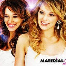 Wallpaper del film Material Girls con Haylie e Hilary Duff
