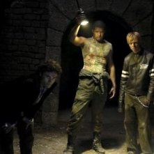 Pink in una scena del film Catacombs
