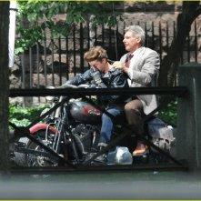Harrison Ford e Shia laBeouf sul set  del quarto capitolo di Indiana Jones
