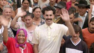 Sacha Baron Cohen nei panni di Borat
