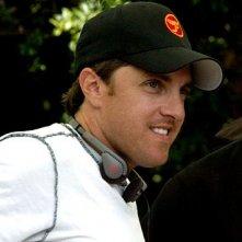 Scott Marshall sul set del film Al passo con gli Steins