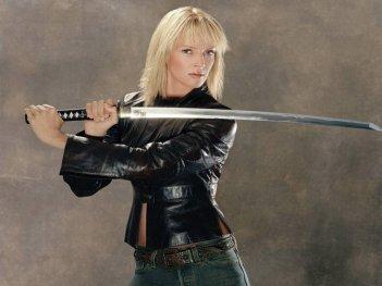 Wallpaper di Uma Thurman nei due episodi di Kill Bill