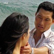 Daniel Dae Kim con Yunjin Kim nell'episodio 'Il coniglio bianco' di Lost