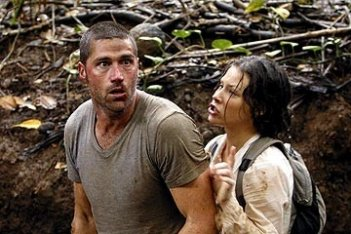 Evangeline Lilly e Matthew Fox nell'episodio 'Inseguimento' del serial Lost