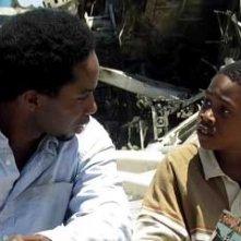 Harold Perrineau con Malcolm David Kelley nel Pilot di Lost