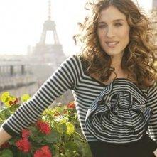 Sarah Jessica Parker in una scena di Sex and the City, episodio Un'americana a Parigi - parte prima
