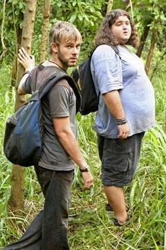 Dominic Monaghan e Jorge Garcia nell'episodio 'Numeri' della serie televisiva Lost