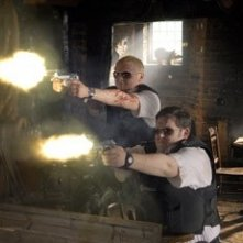 Nick Frost e Simon Pegg nella action comedy Hot Fuzz