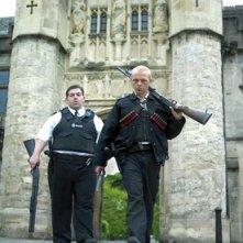 Nick Frost e Simon Pegg, protagonisti dell'action comedy Hot Fuzz