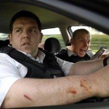 Una immagine di Nick Frost e Simon Pegg in Hot Fuzz