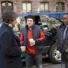 Mike Binder, Adam Sandler e Don Cheadle sul set del film Reign Over Me