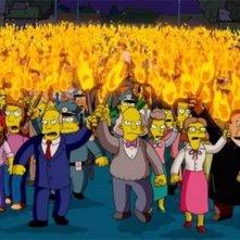 Un'immagine tratta dal film dei Simpson, finalmente sul grande schermo
