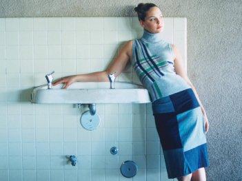 Wallpaper di Katherine Heigl con abito azzurro