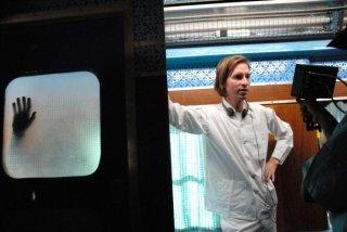 Wes Anderson sul set del film The Darjeeling Limited