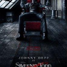 La locandina di Sweeney Todd con Johnny Depp nel ruolo del diabolico barbiere di Fleet Street