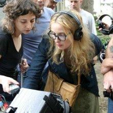 Julie Delpy sul set del film 2 Days in Paris