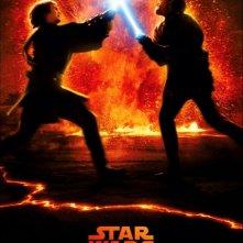 Un manifesto promozionale di Star Wars ep. III - La vendetta dei Sith