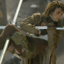Milla Jovovich in una scena dell'action fantascientifico RESIDENT EVIL: EXTINCTION