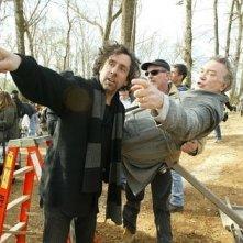 Tim Burton e Albert Finney sul set di BIG FISH