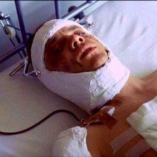 Malcolm McDowell in un'immagine di ARANCIA MECCANICA
