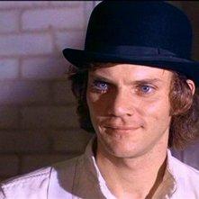 Alex De Large (Malcolm McDowell) il protagonista di ARANCIA MECCANICA
