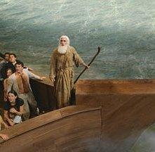 Steve Carell alla guida dell'Arca in una scena di Un'impresa da Dio