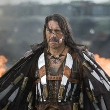 Wallpaper del film Grindhouse con il mitico Danny Trejo nel ruolo di 'Manchete'