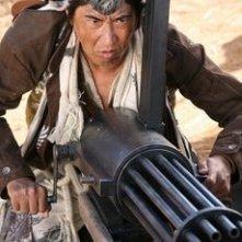 Koichi Sato in una scena di Sukiyaki Western Django