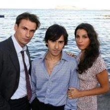 Luigi Lo Cascio, Fabrizio Gifuni e Donatella Finocchiaro sul set de Il dolce e l'amaro