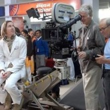 Wes Anderson sul set di The Darjeeling Limited