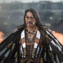 Danny Trejo in una scena del film Planet Terror, episodio del double feature  Grind House