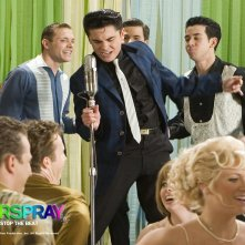 Wallpaper del film Hairspray con Zac Efron in una scena
