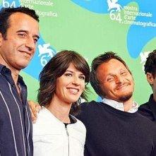 Venezia 2007: Bruno Tedeschi, Irene Jacob, il regista Paolo Franchi ed Elio Germano presentano Nessuna qualità agli eroi
