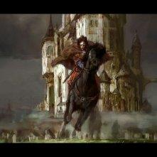Un bozzetto preliminare per una scena di Le cronache di Narnia: il principe Caspian