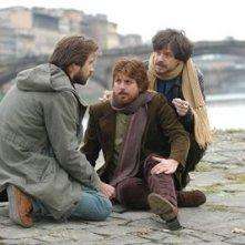 Kim Rossi Stuart, Claudio Gioè e Roberto De Francesco in una scena del film Piano, solo