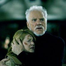Malcolm McDowell e Scout Taylor-Compton in una scena del film Halloween