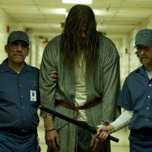 Tyler Mane, Danny Trejo e Lew Temple in una scena del film Halloween