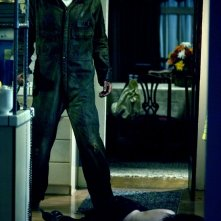 Michael Meyers (Tyler Mane) in una scena del film Halloween